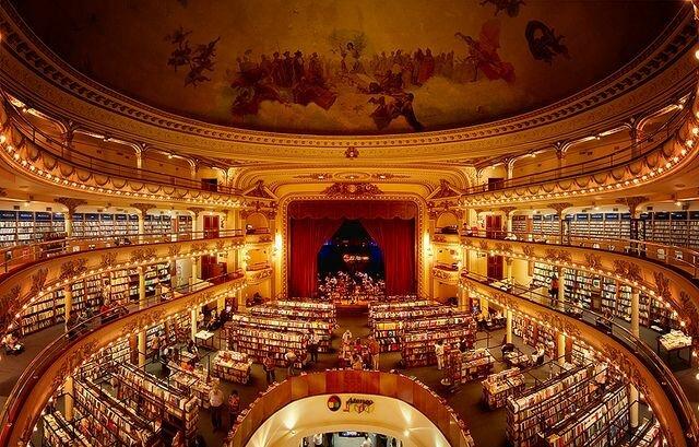 El Ateneo Grand Splendid: самый красивый книжный магазин мира (Аргентина)