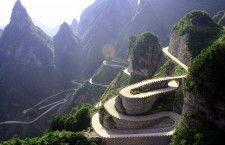Горный серпантин Avenue Toward Heaven (Китай)