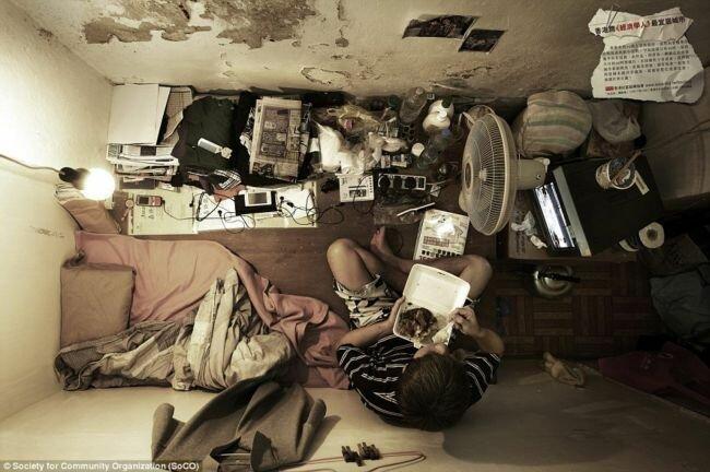 Миниатюрные квартиры в Гонконге