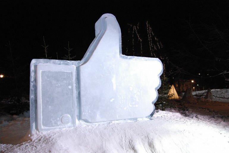 В Литве воздвигнут гигантскую скульптуру Like