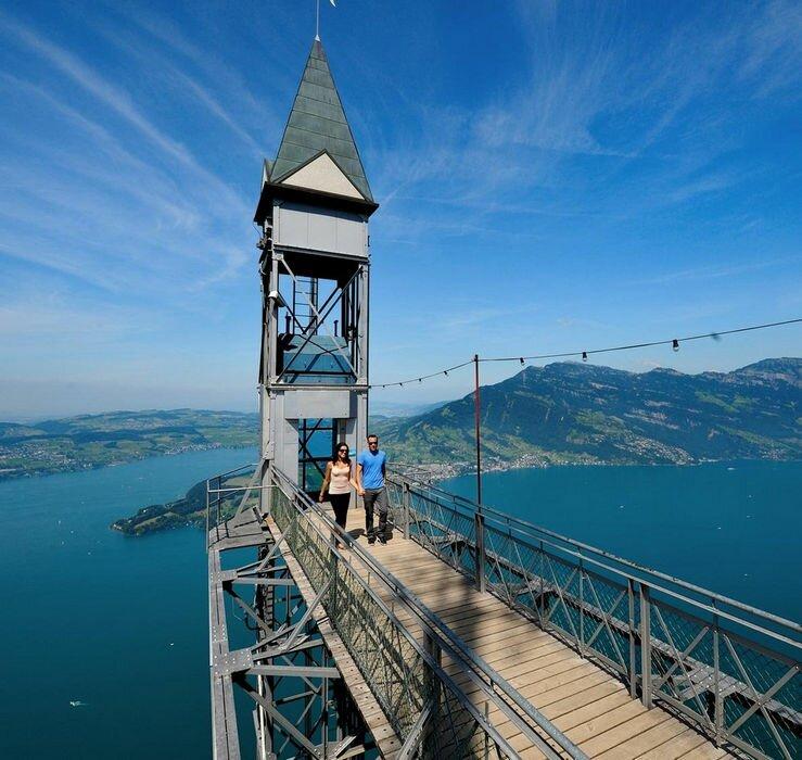 Самый высокий смотровой европейский лифт: Hammetschwand (Швейцария)