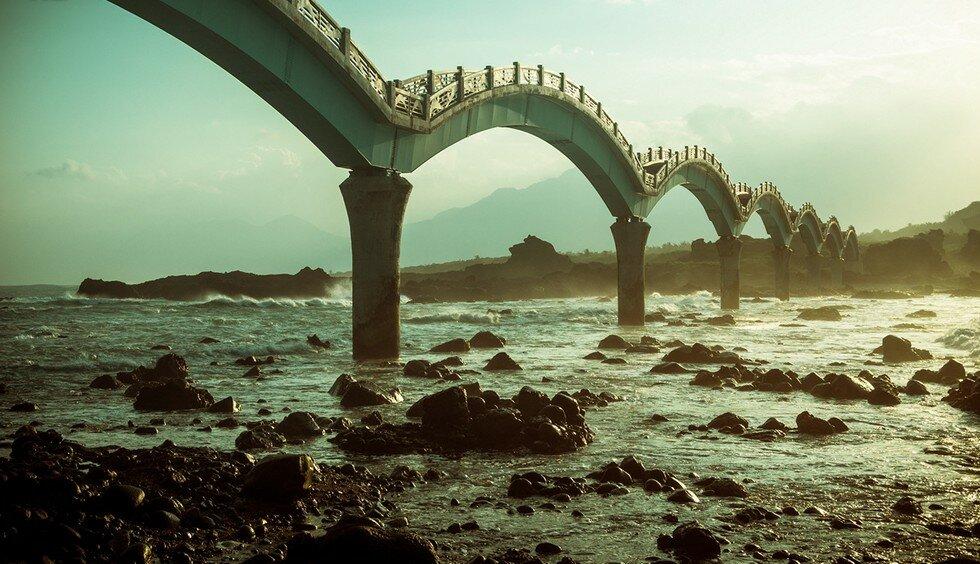 Терраса трёх бессмертных: необычное каменное образование (Тайвань)