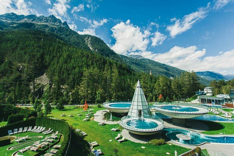 Аквадом: необычный банный комплекс в Австрии