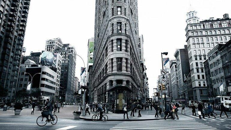 Flatiron Building: необычный дом утюг в сердце Нью Йорка (США)