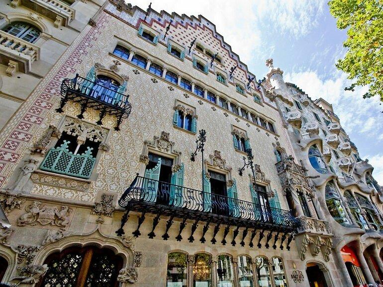 Каса Амалье в Барселоне (Испания)